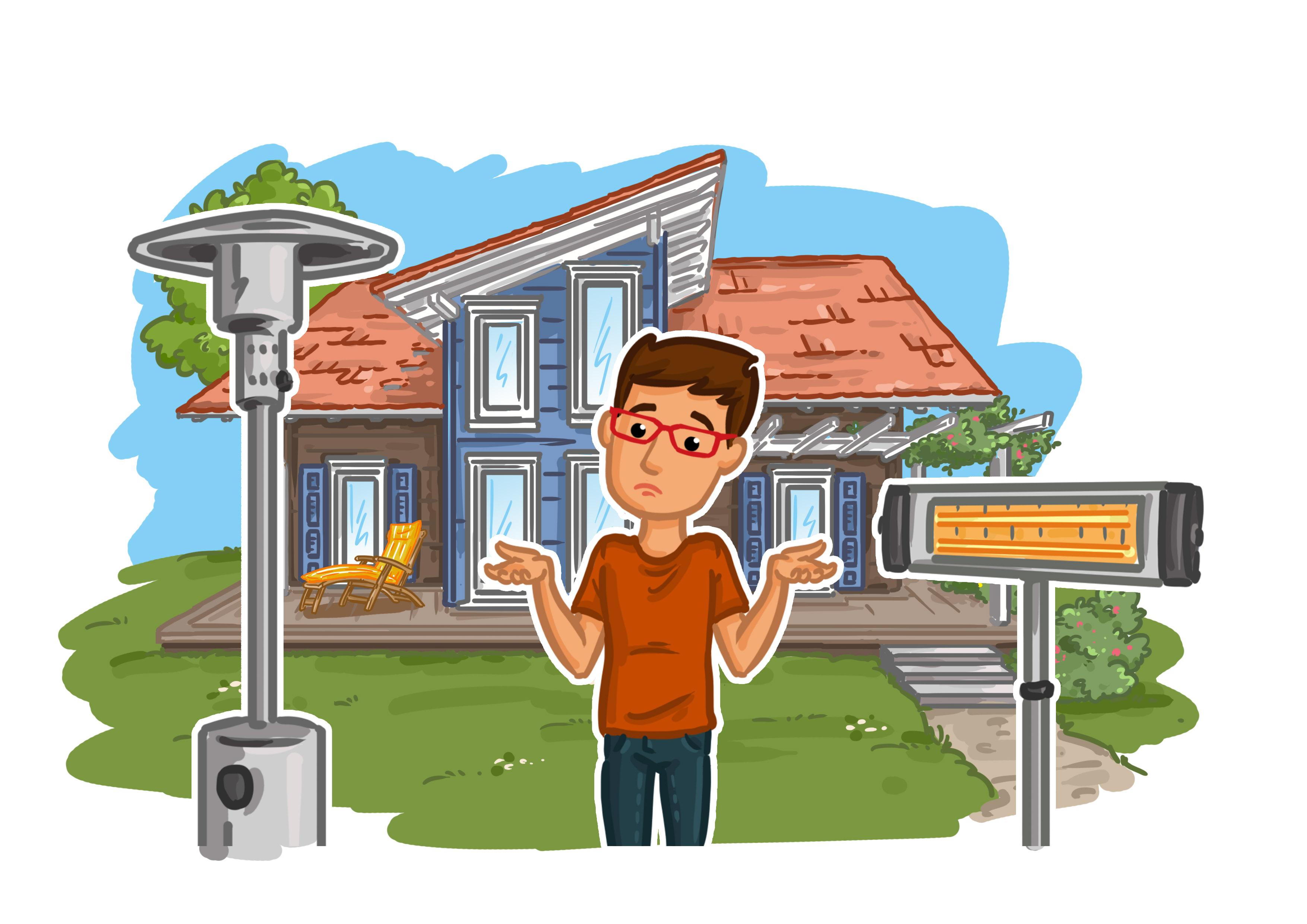 Heizstrahler Garten Gas oder Infrarot