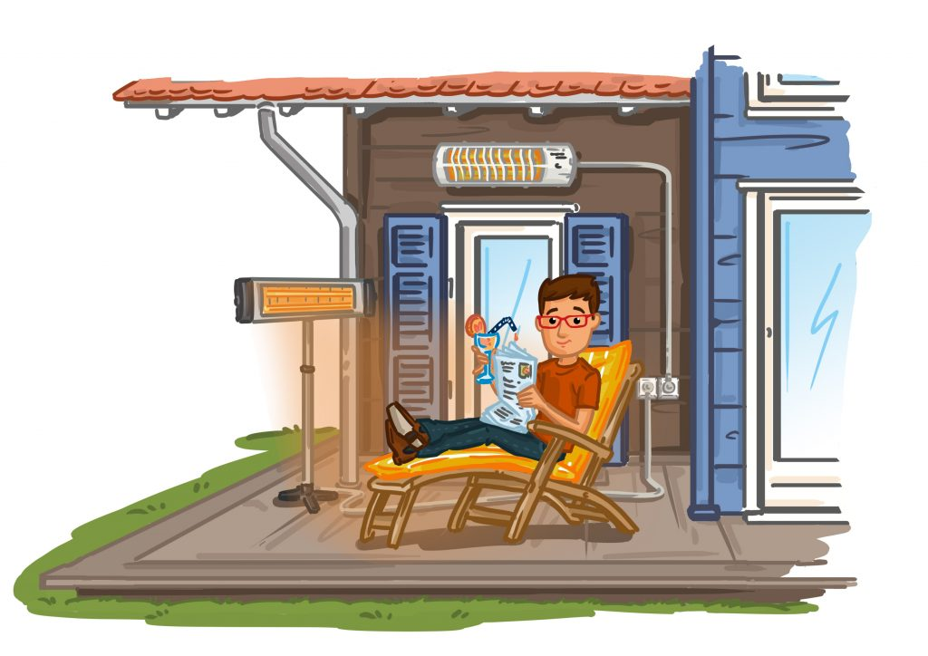 Terrassenheitzer elektrisch- Unterschiede und Besonderheiten bei elektrischen Terrassenheizern