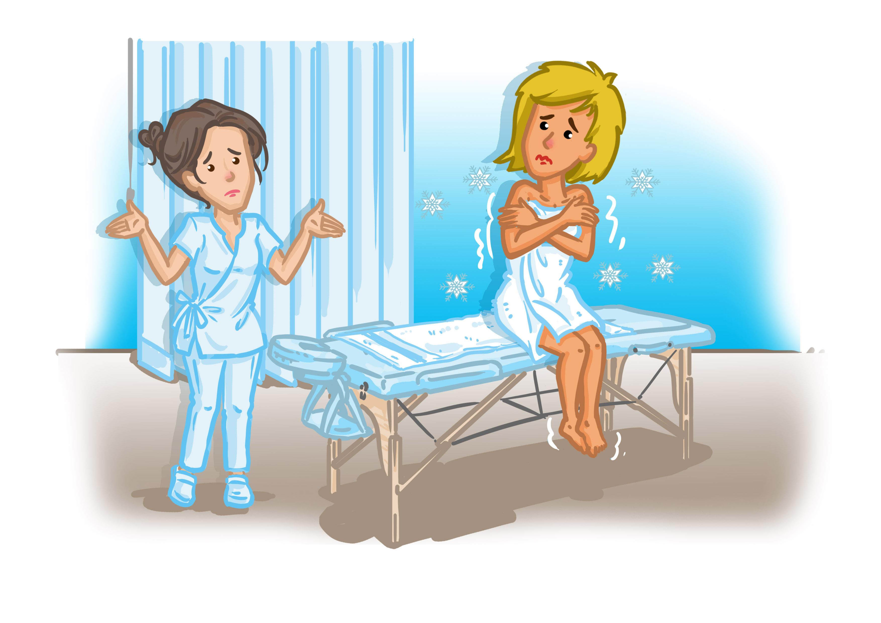 Bei Massagen ist die richtige Raumtemperatur besonders wichtig