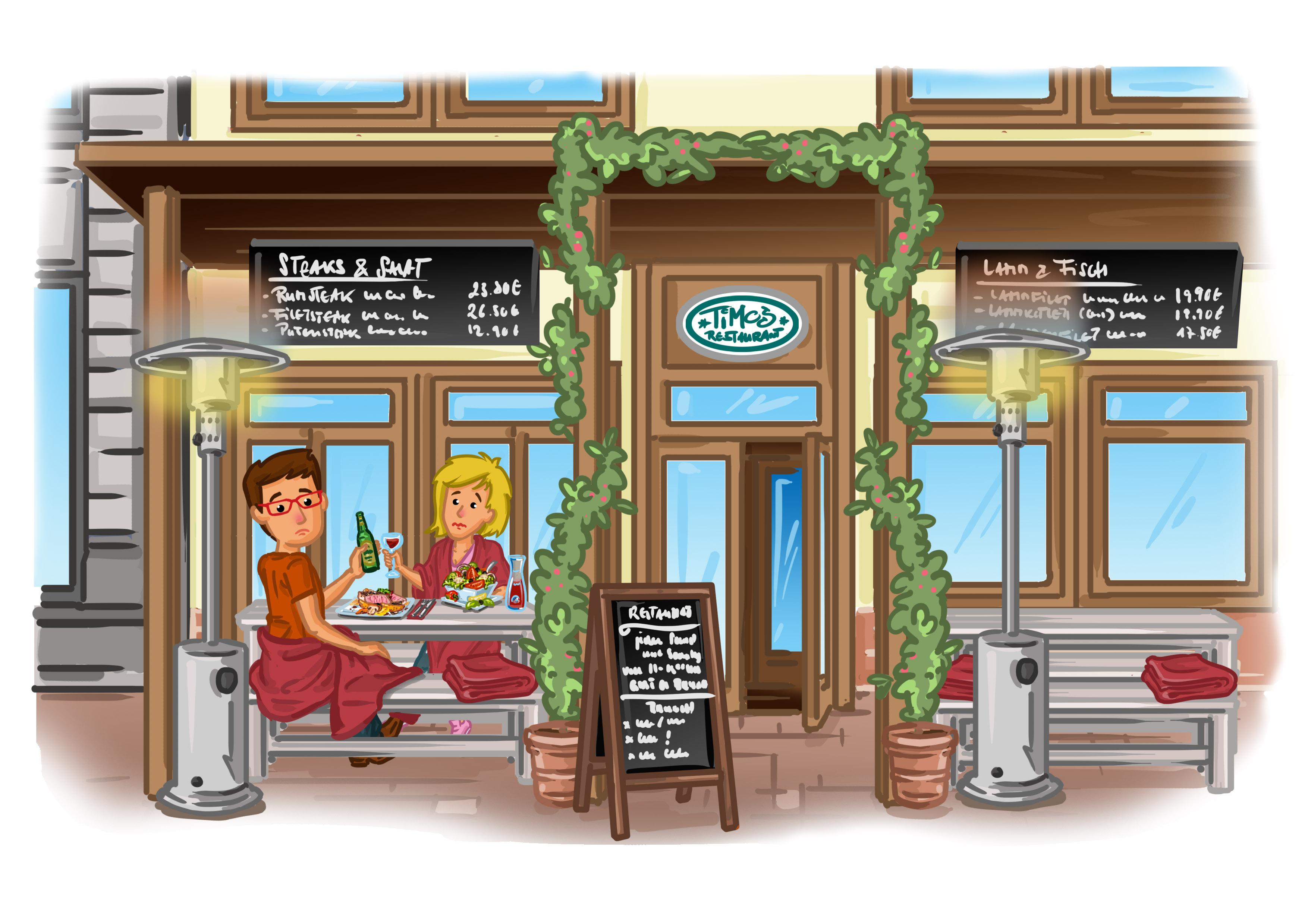 Infrarot Heizstrahler für die Gastronomie   die optimale Lösung ...