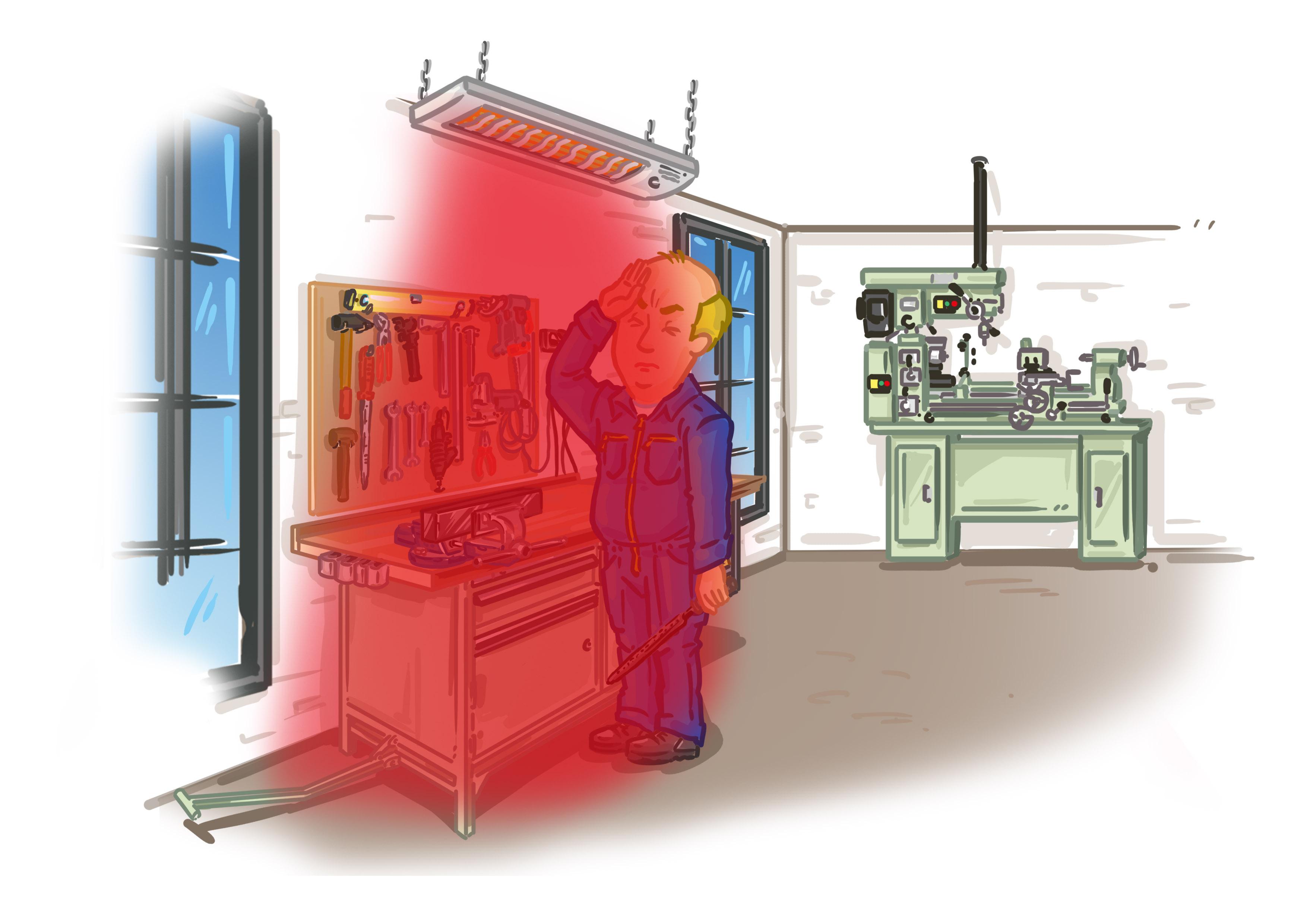 Nachteile von Hellstrahlern beim Einsatz in Hallen oder Werkstätten